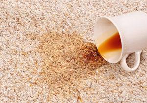 чистка пятна от кофе на ковре