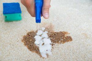 удаление застарелых пятен на ковре