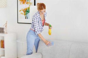 как почистить белый диван самостоятельно