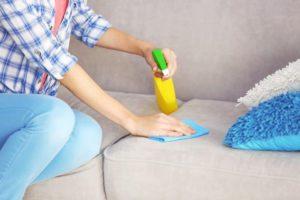 как почистить белый диван в домашних условиях