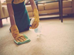 удаление старых пятен на ковре