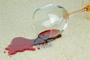 очистка вина с ковра