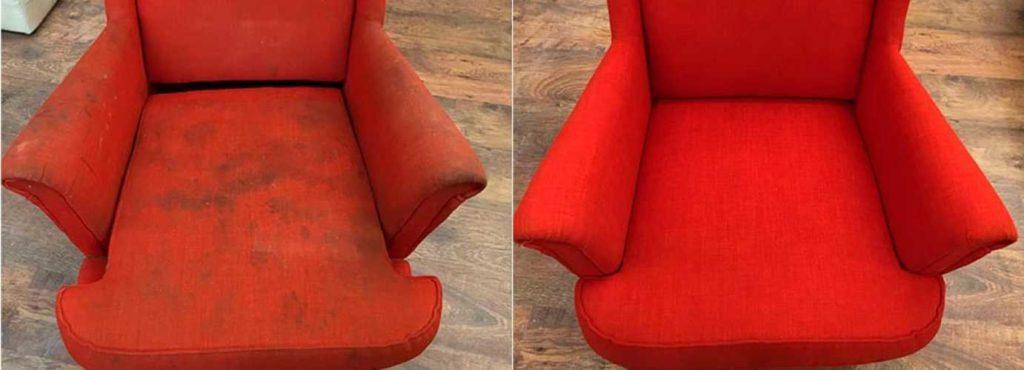 как почистить тканевое кресло