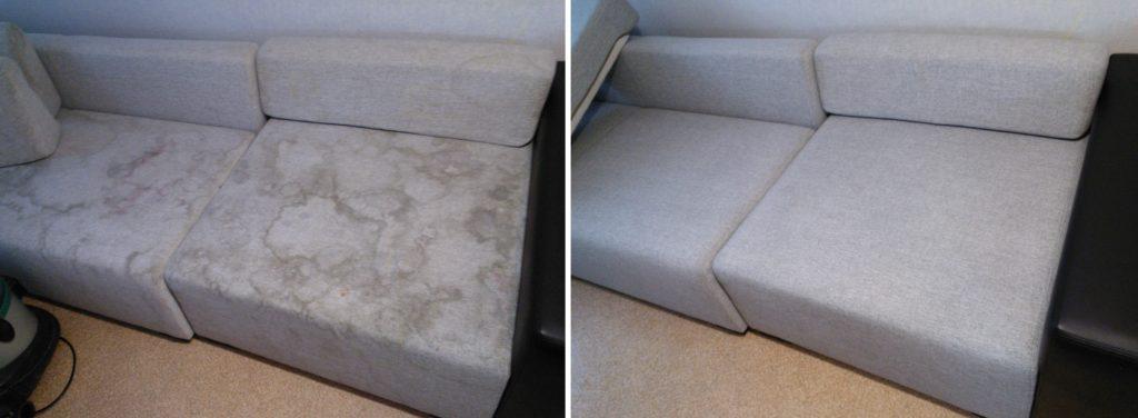 очистить диван от разводов